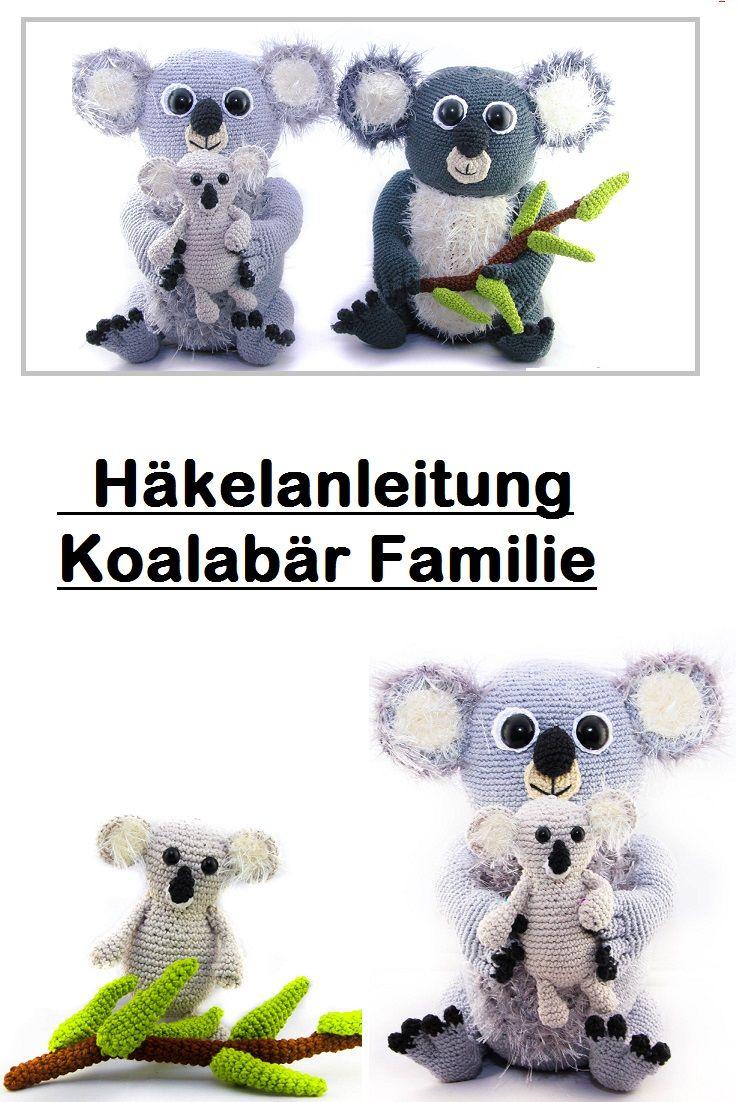 Flauschige Koalabärfamilie PDF Häkelanleitung. zum Herunterladen und ...