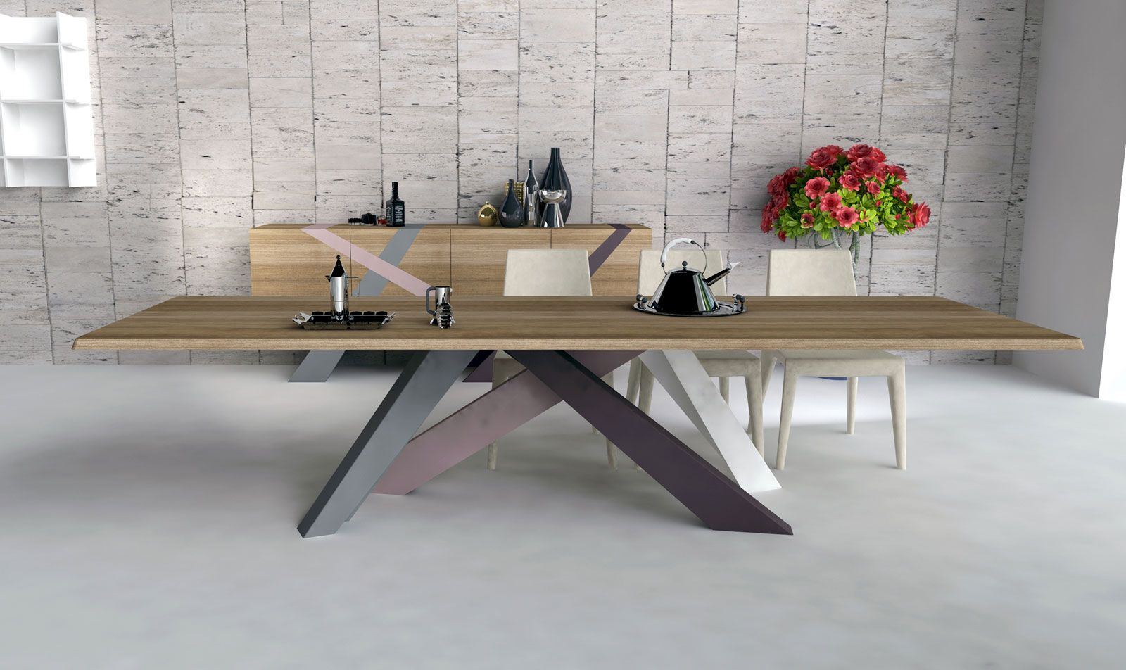 Volpi sedie ~ Big table bonaldo dining table pinterest interiors tables and