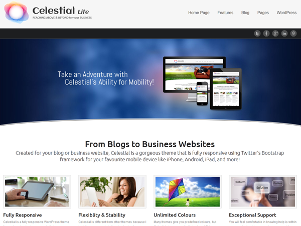 celestial Lite for free wordpress themes Created for your blog or ...