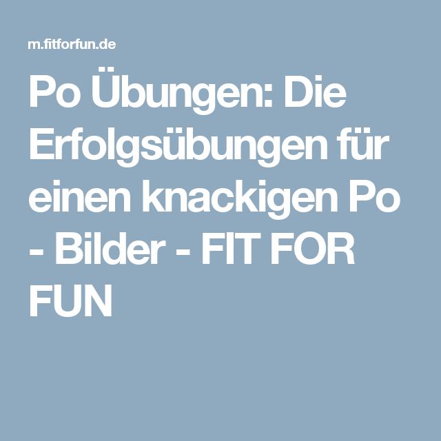 Po Übungen: Die Erfolgsübungen für einen knackigen Po - Bilder - FIT FOR FUN
