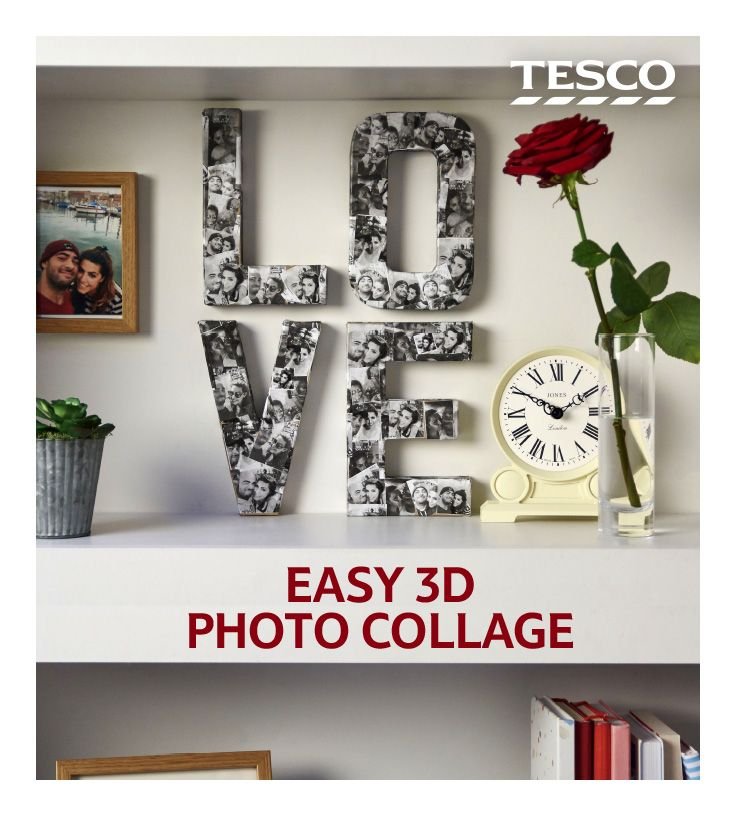 DIY photo collage on letters Relationship crafts