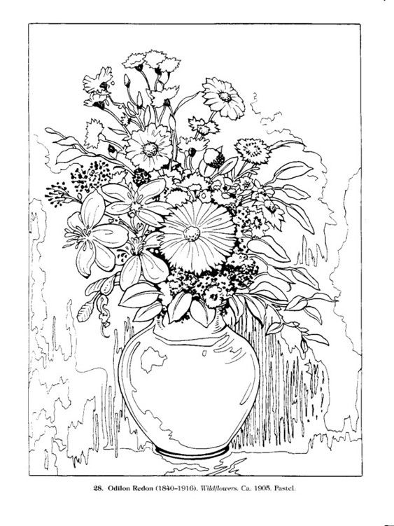 Пин на доске Раскраска по номерам | Рисунки цветов ...