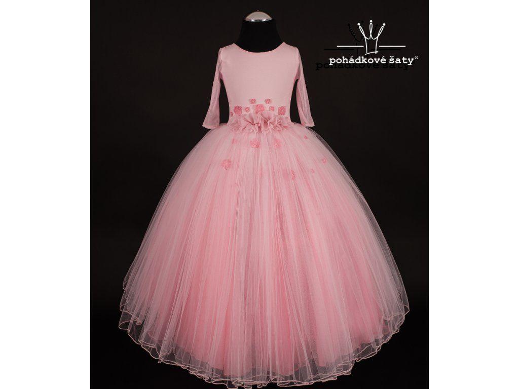 bfefe71d9715 Dívčí princeznovské šaty inspirované Šípkovou Růženkou. Dívčí bohaté  nadýchané tylové šaty pro Šípkové Růženky. Cena od 3 799Kč.