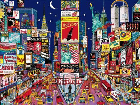 Busy City 154 Pieces Times Square New York City