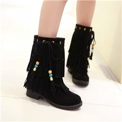 Korean Sweet Tassels and Beads Warm Boots