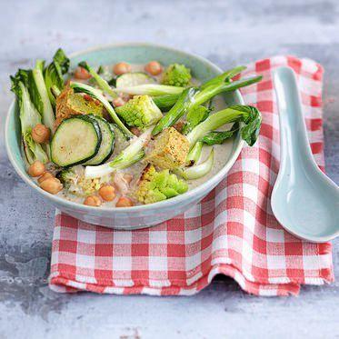 Probier das hier einmal aus Grünes Gemüsecurry Es lässt sich - schnelle vegane k che
