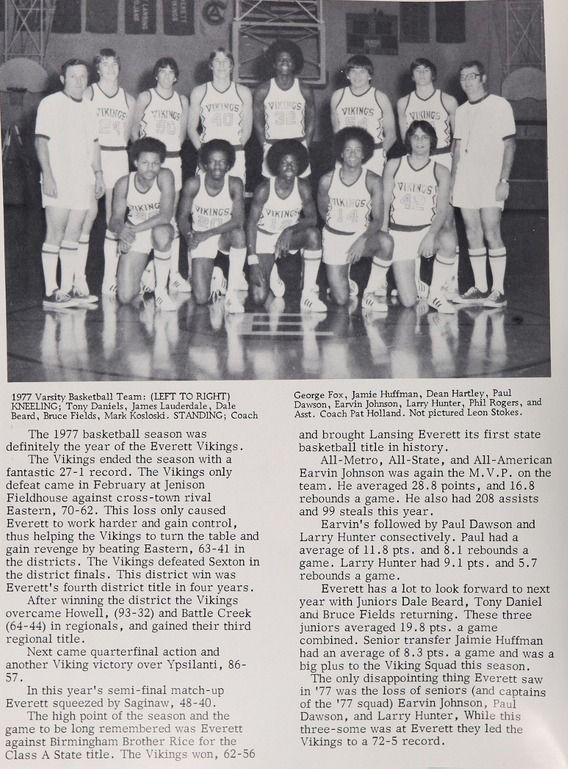 Magic Johnson\u0027s high school basketball team -- Everett High School