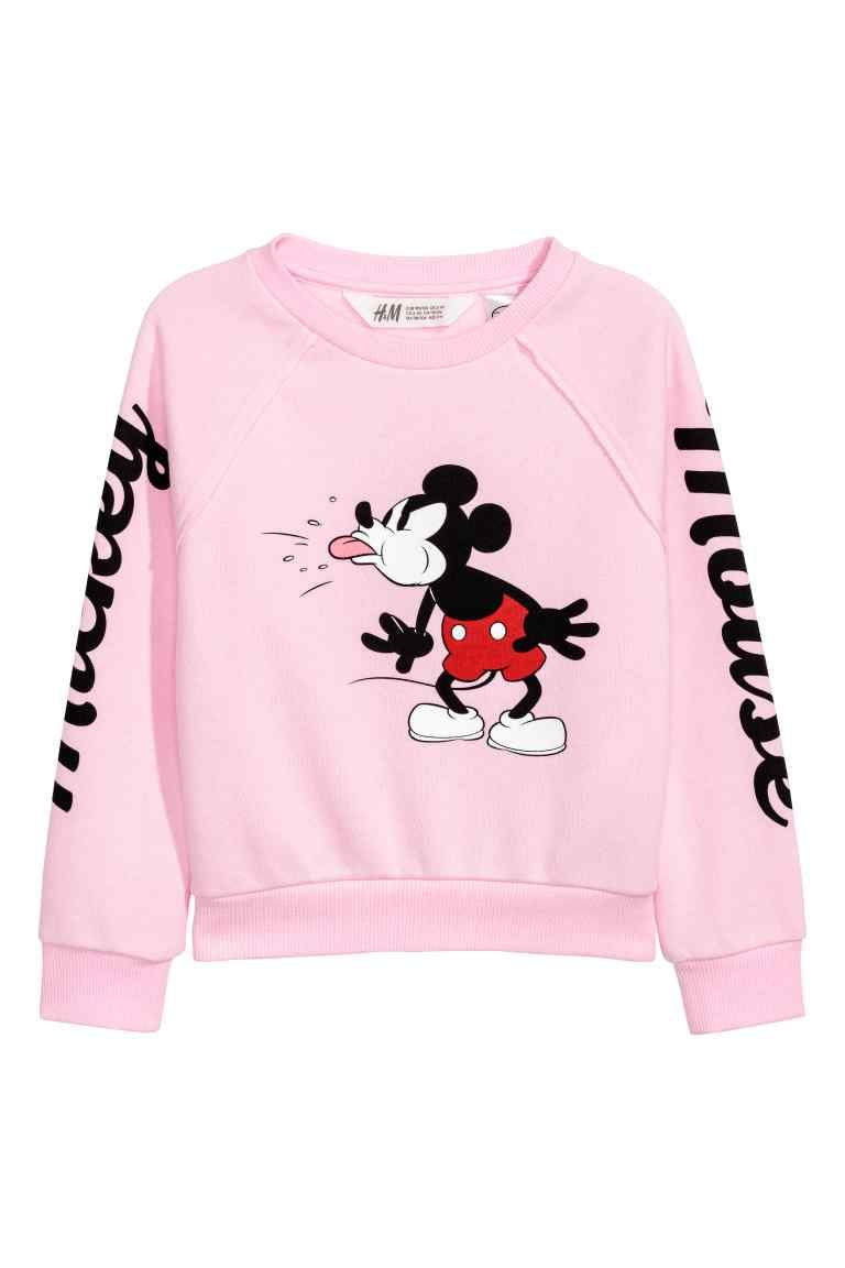 498b90ba2 Printed sweatshirt - Light pink/Mickey Mouse - Kids | H&M | Kids ...