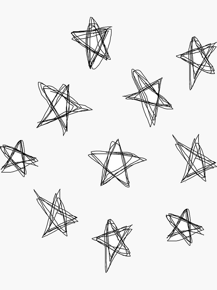 Star Doodle Sticker By Emilymcgrane In 2021 Star Doodle Doodles Mini Doodle