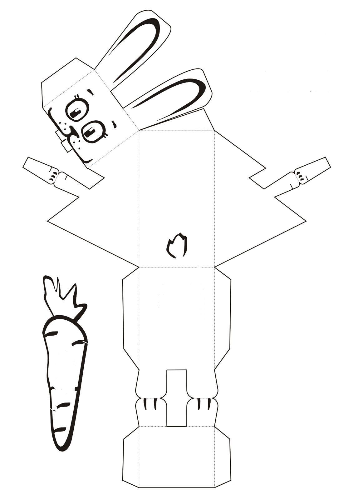 Cómo hacer una cajita del conejo de pascua | leslie | Pinterest ...