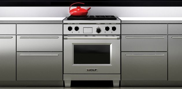 The Wolf 30 Dual Fuel Range Offers Standard Stacked Surface Burners Large