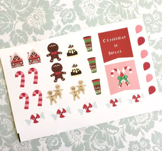 Christmas is Sweet matte planner sticker sheet by BelleandBlakeCo