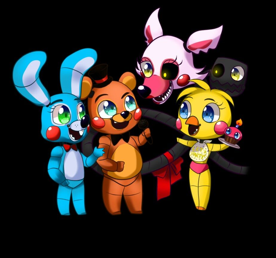 Toy chica x fem mangle preview undertale plans by red - Chibi Bonbon Toy Freddy Mangle And Toy Chica