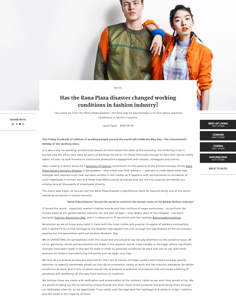 Has The Rana Plaza Disaster Changed Working Conditions In Fashion Industry Unikstore Blog