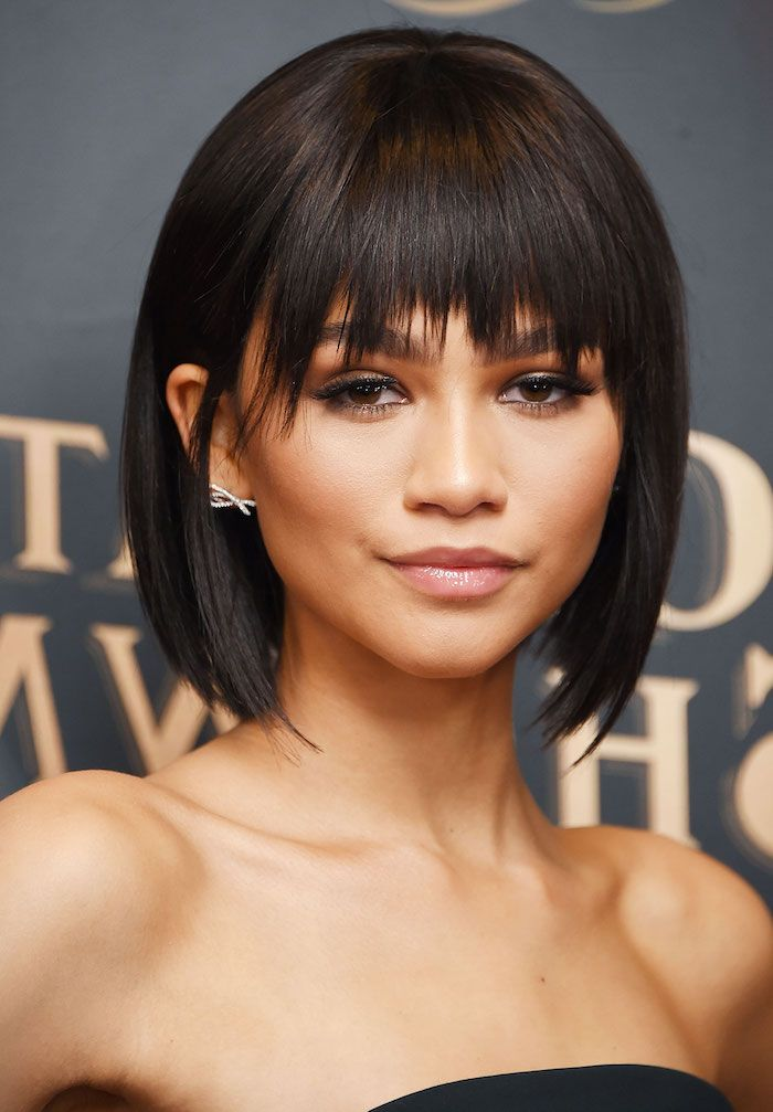 Small Earrings Zendaya Bobs For Black Women Black Hair Bangs In 2020 Short Bob Hairstyles Hairstyles With Bangs Short Hair Styles