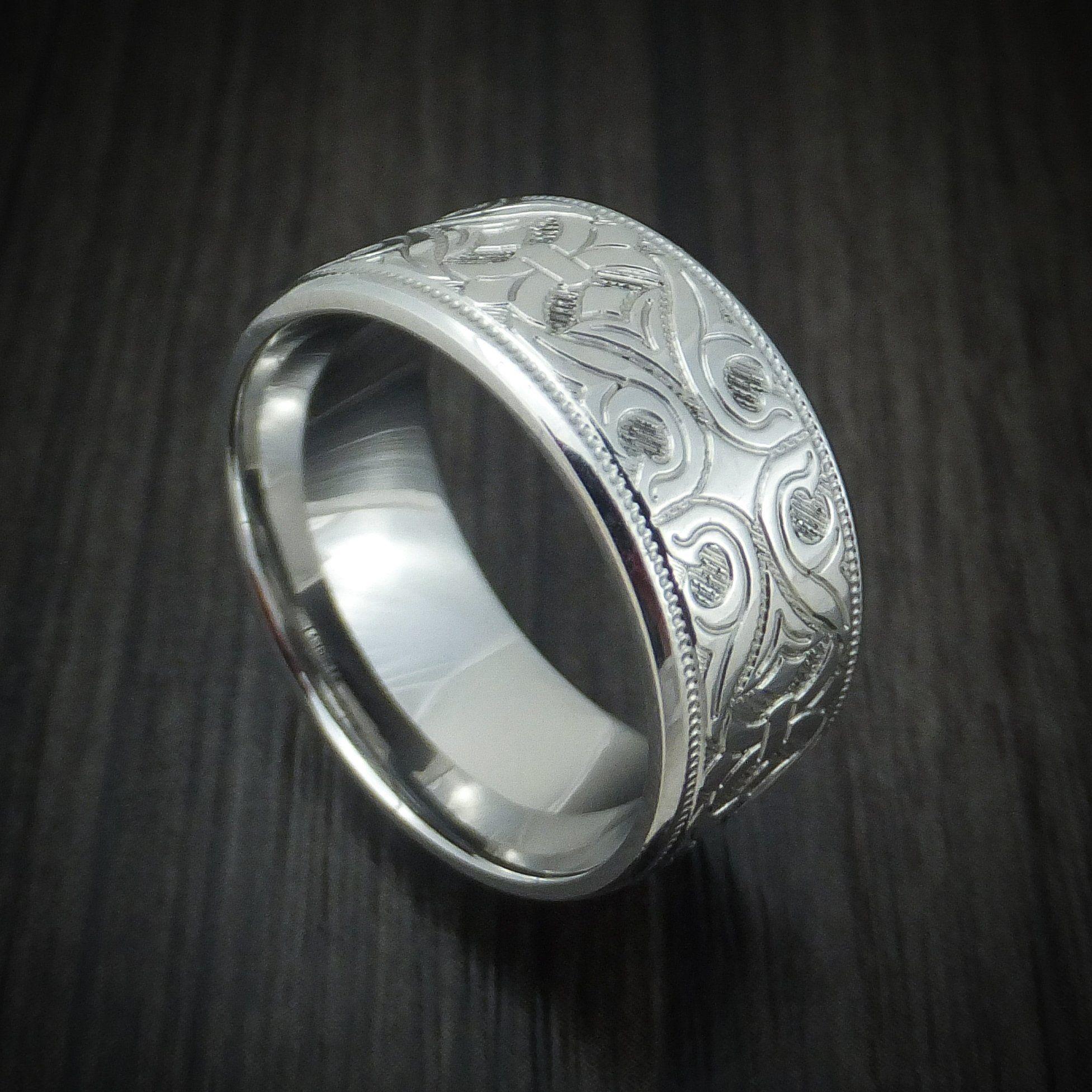 Cobalt Chrome Floral Design Ring Custom Made Ring