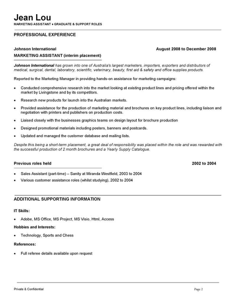 Marketing assistant cover letter entry level awesome