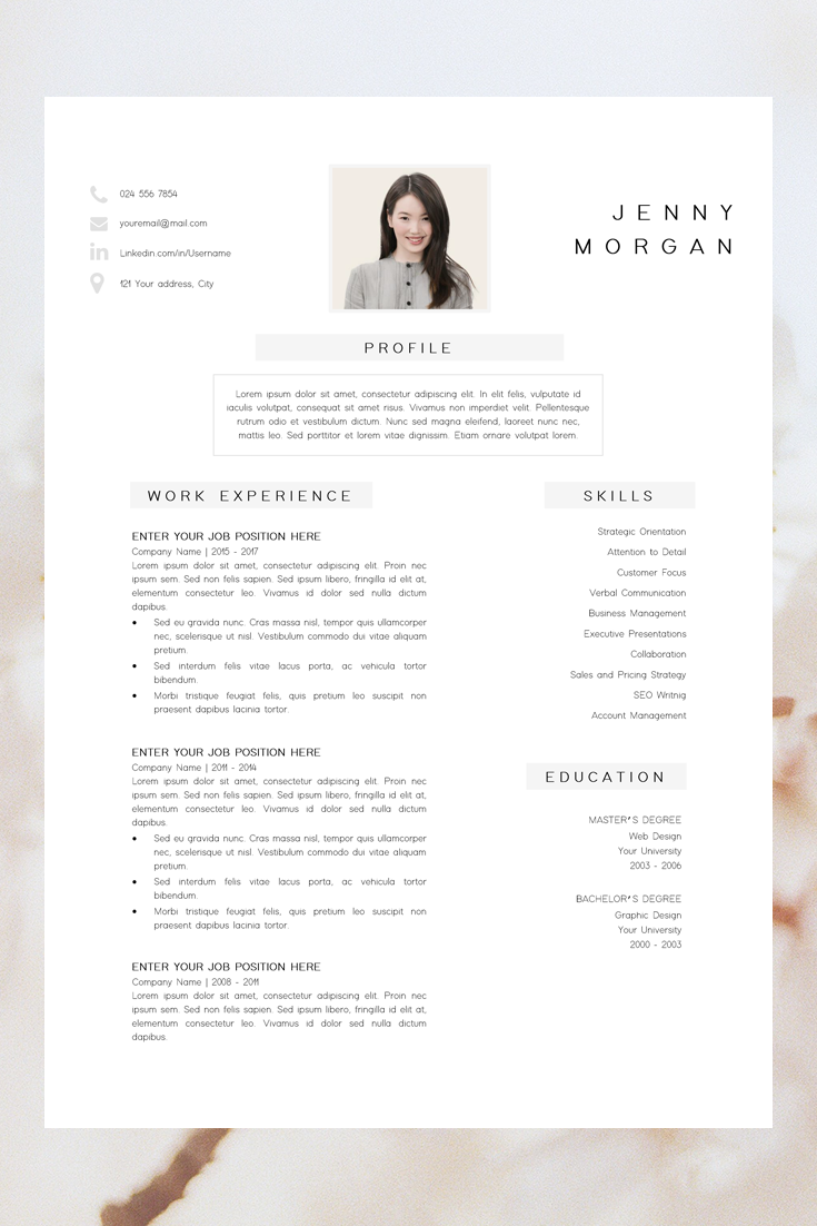 Simple Cv Template Word Resume With Photo Template Resume Minimalist Creative Resume Design Free Resume Template Resume Pages Desain Cv Cv Kreatif Template