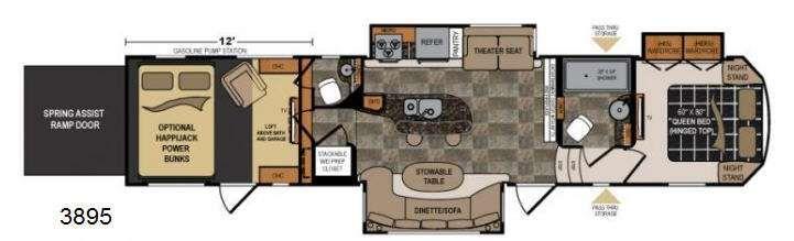 5th Wheel 2 Bathroom With Ramp Floor Plans | Floorplan