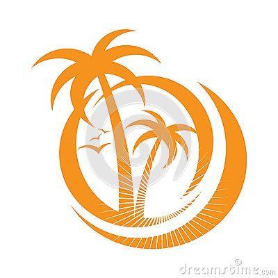 Palm Tree Emblems Icon Sign Design Element Palmeras Free Orillas