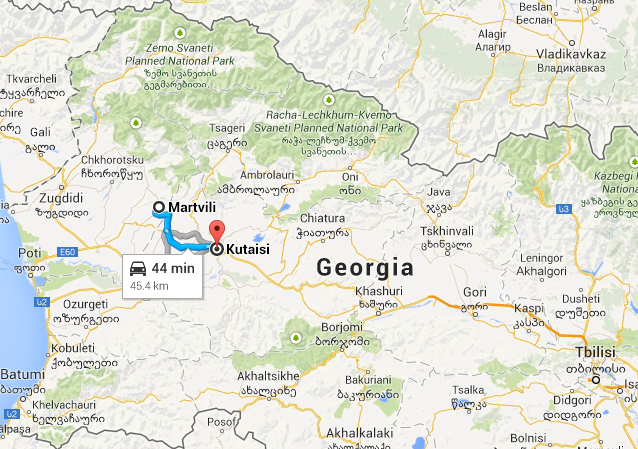 map from kutaisi to martvili Georgia Pinterest Georgia