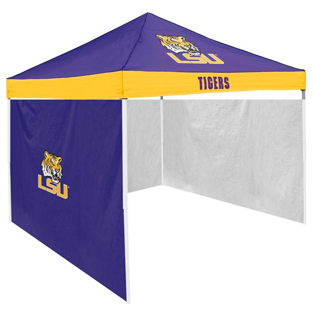 LSU Tigers NCAA 9 X Economy 2 Logo Pop Up Canopy Tailgate