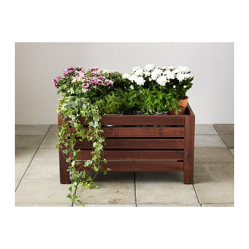 Ikea 196 Pplar 214 Storage Bench Outdoor Brown Stained
