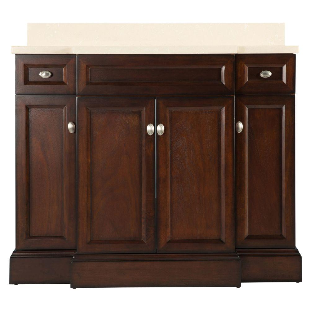 Home decorators collection teagen 42 in w bath vanity in - Home depot bathroom vanity countertops ...