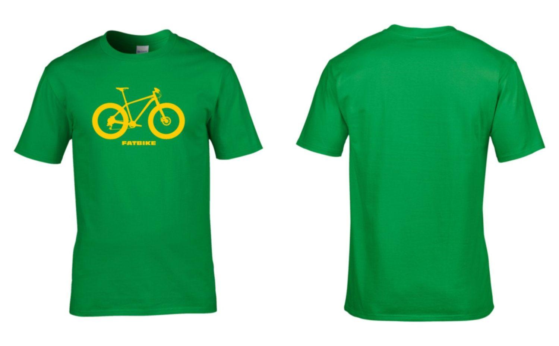 FATBIKE Mens Cotton T-Shirt Mountain Biking Fat Bike Winter Retro Geek Wheels Cycling Clothing NEW