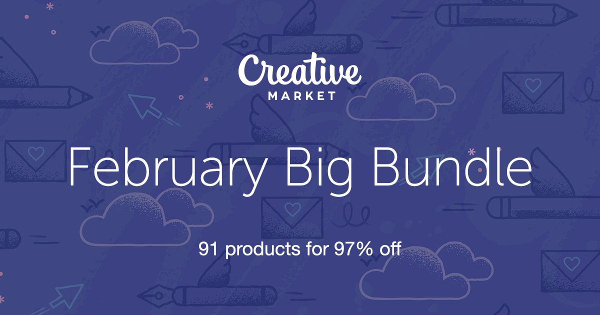 Check out February Big Bundle on Creative Market