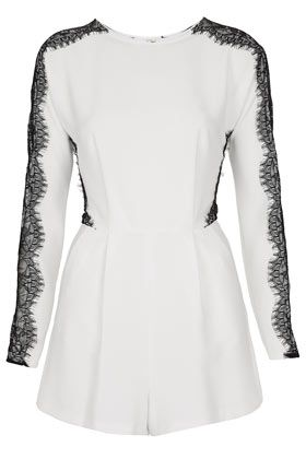 TOPSHOP  Lace Sleeve Playsuit $100