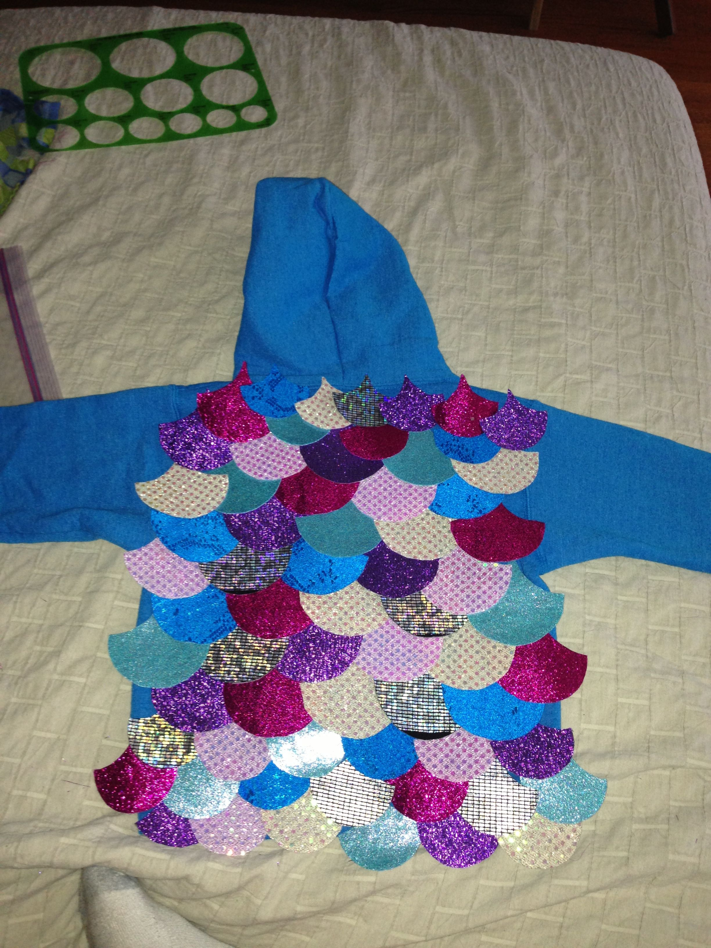 Rainbow fish hoodie book character parade costume book for Rainbow fish costume