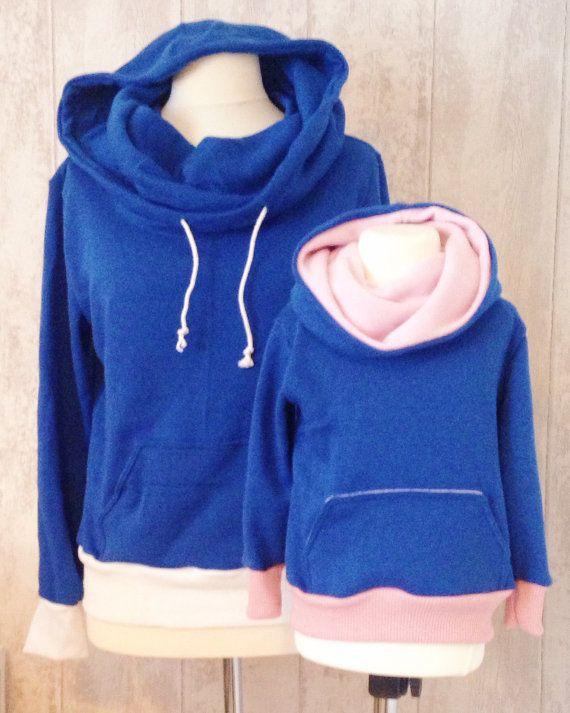 Boys, Girls and Ladies - Comfy Cowl Hoodie PDF Sewing Pattern ...