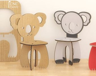 KIDS TABLE AND ANIMALS CHAIRS SET   5 Projets Inside The Zip File!  OPTIMIZED Files