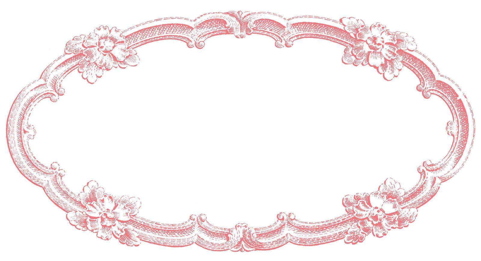 Vintage Clip Art Delicate Oval Frame Clip Art Vintage Vintage Frames Clip Art
