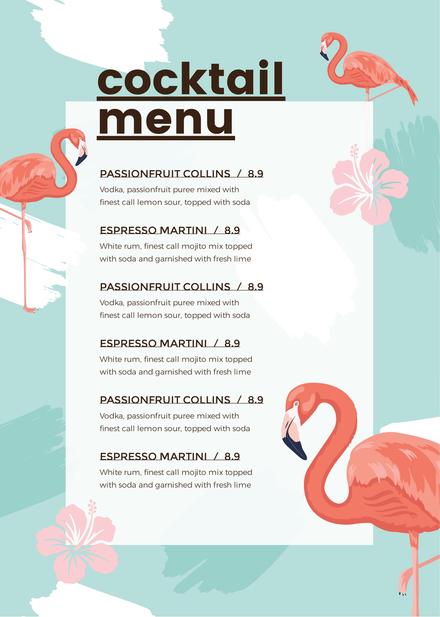 Minimalist Menu Black White DIY Template Pinterest Menu Maker - Beverage menu template
