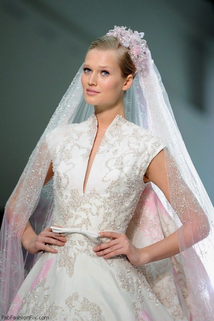Toni Garrn for Elie Saab Haute Couture spring/summer 2012 collection. #eliesaab