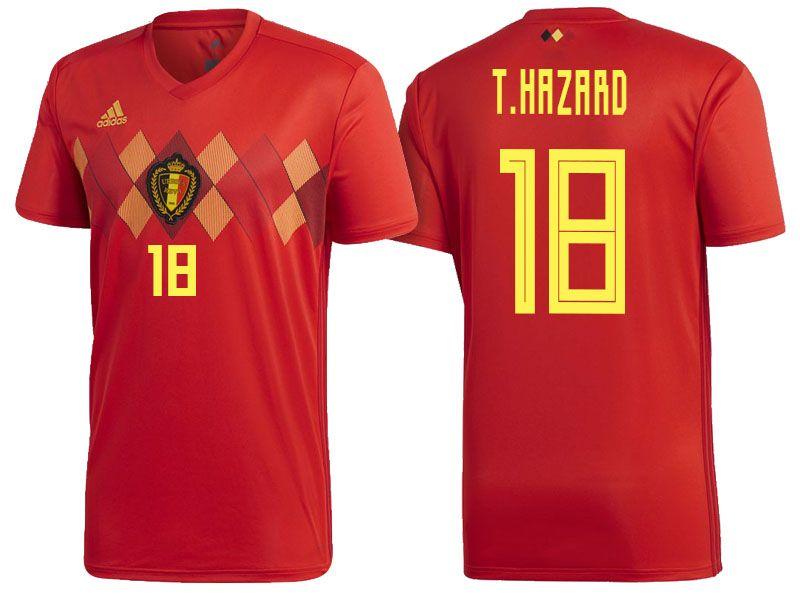 Belgium 2018 World Cup Home Jersey thorgan hazard  f58013b78