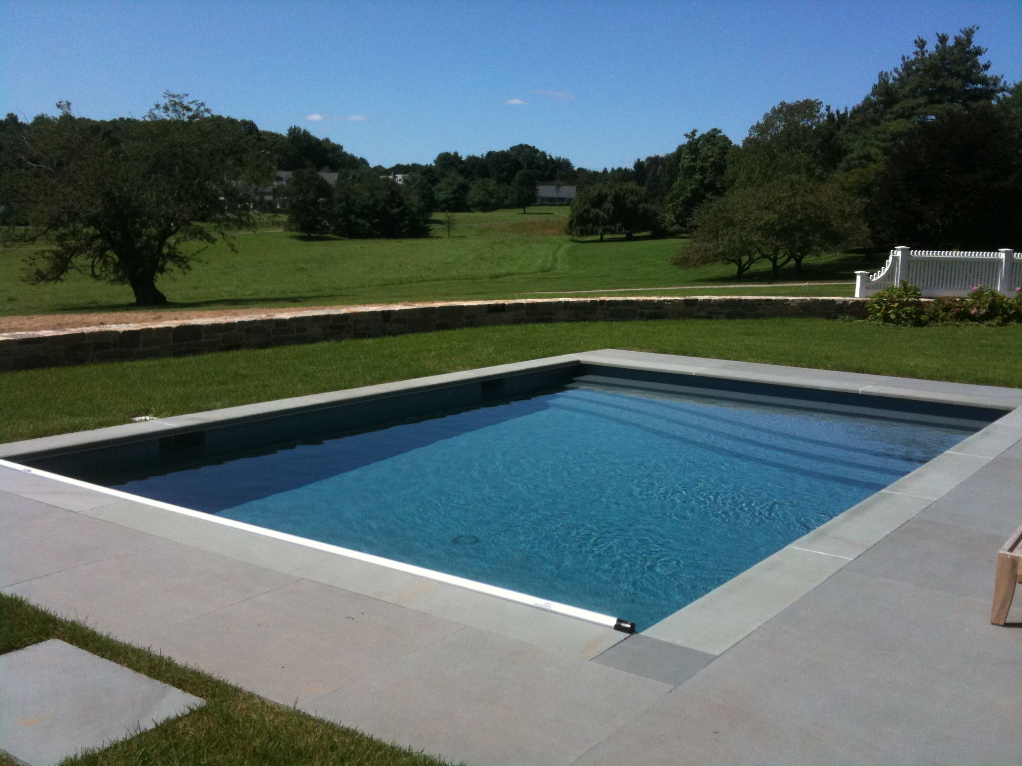 400 Sq Ft Pool With Bluestone Coping And Patio Custom Glass