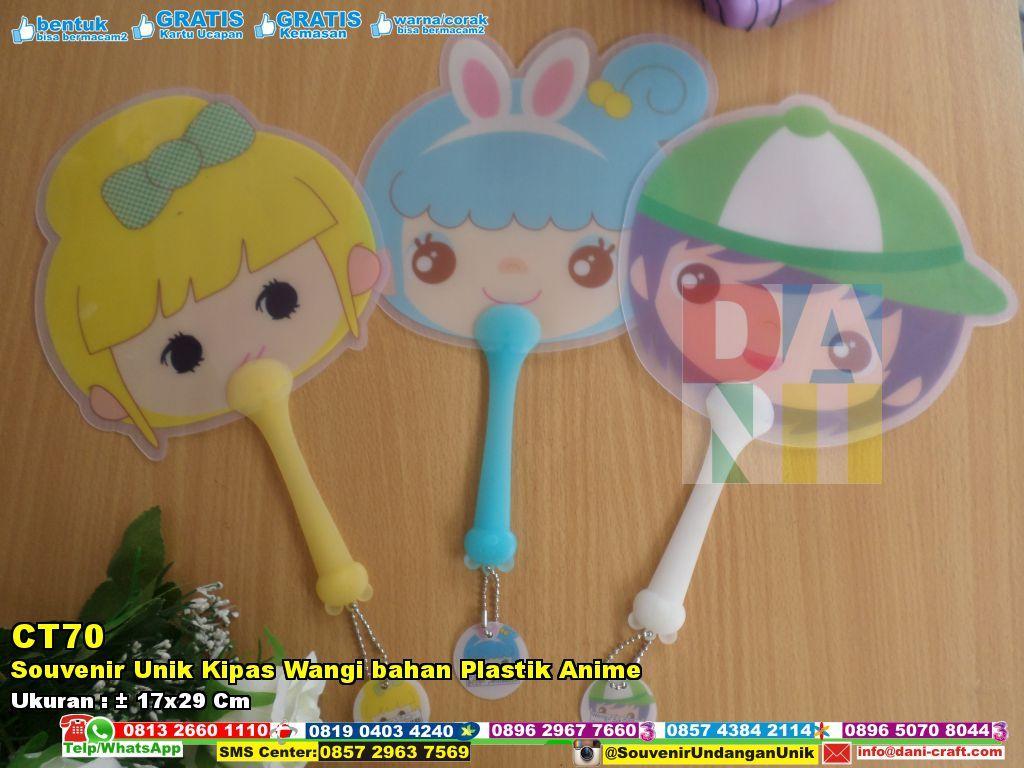 Souvenir Unik Kipas Wangi Bahan Plastik Anime Unik