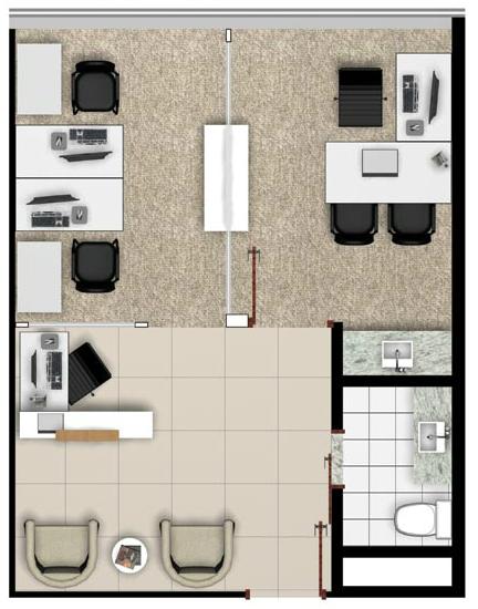 Planta baixa oficces plans and decoration pinterest for Planos de oficinas pequenas