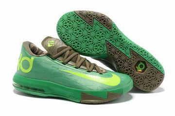 "the best attitude 2d43d 8a90f Mens KD Vi""Bamboo""Green-Volt Bronze Kevin Durant Nike Shoes"