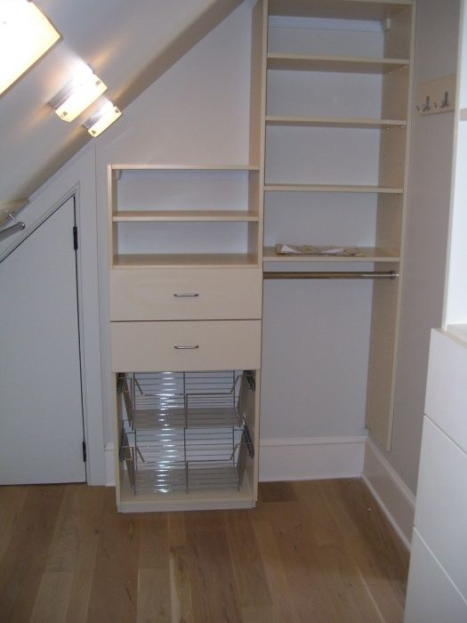 Sloped / Angled Ceiling Solution   California Closets ...