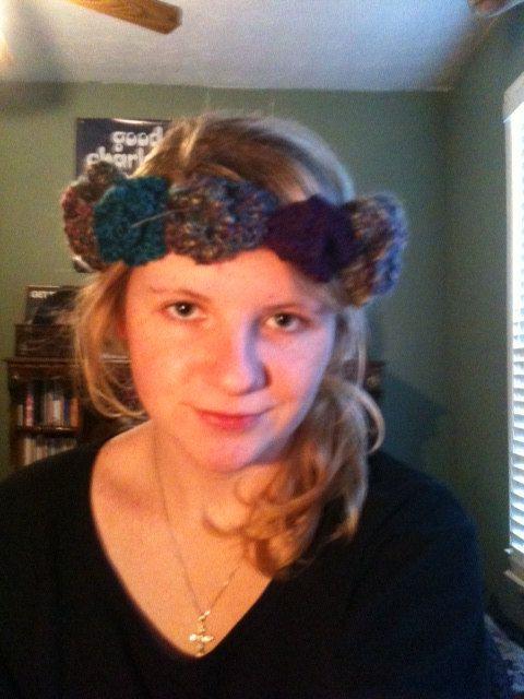 Handmade Crochet Hippie Flower Headband