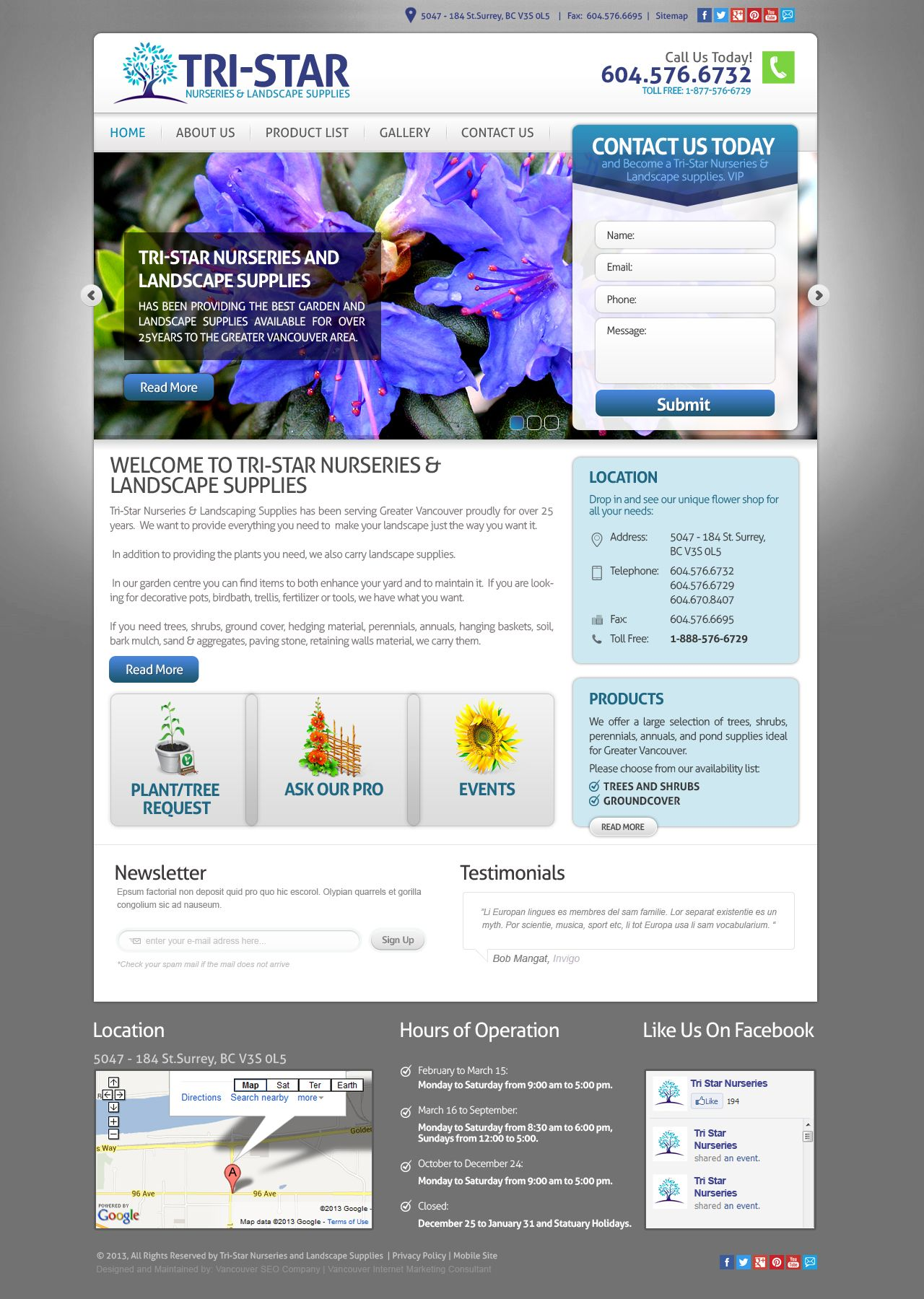 Tristar Nurseries Web Design Nursery Web Design Star Nursery Website Design