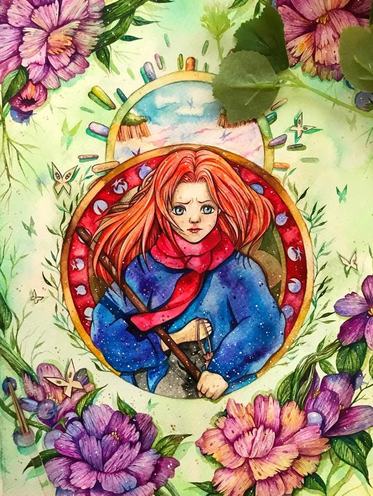 Mary and the witch's flower Art, Flower art, Anime movies