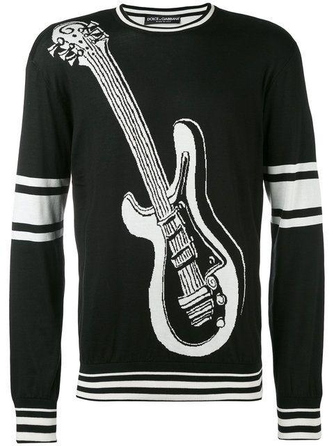 Dolce & Gabbana Instrument embroidered sweater