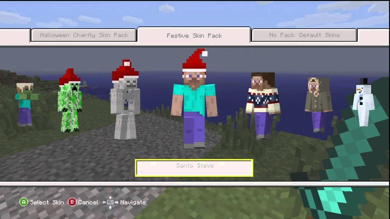 Minecraft Xbox 360 Christmas Skin Pack Overview - YouTube | RILEY