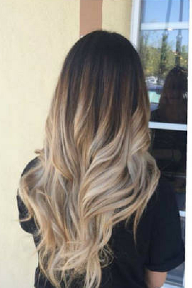 Love The Length And The Color Ombre Dark Brown To Sandy Blonde Ad Hair Hairstyles Hairextensions Profes Hair Styles Long Hair Styles Ombre Hair Blonde