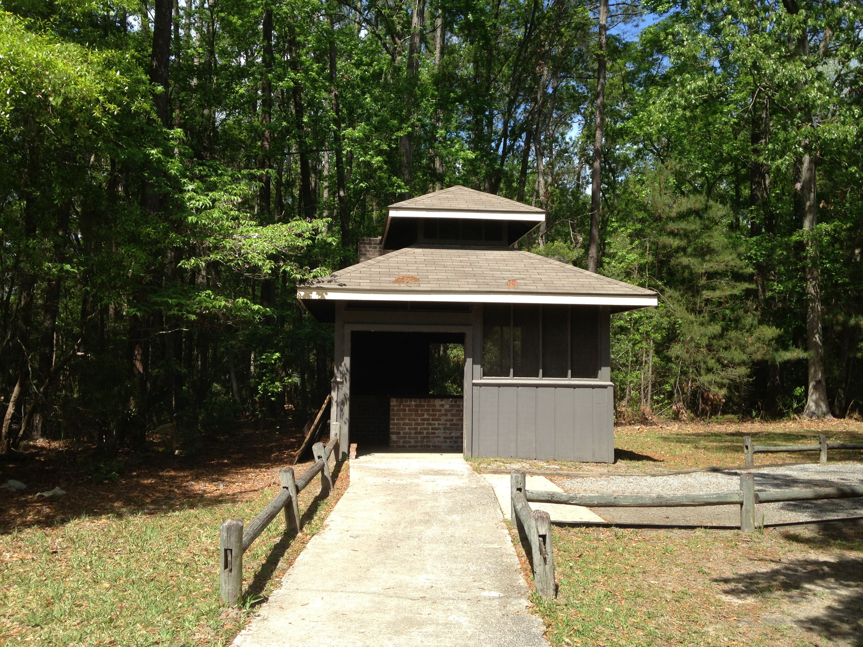 BBQ grill at the group shelter at Fort McAllister is perfect for oyster or pig roasts